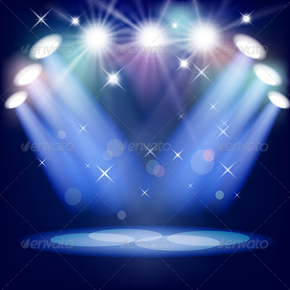 Theater Lights Background: Stage Light By ElenaShow