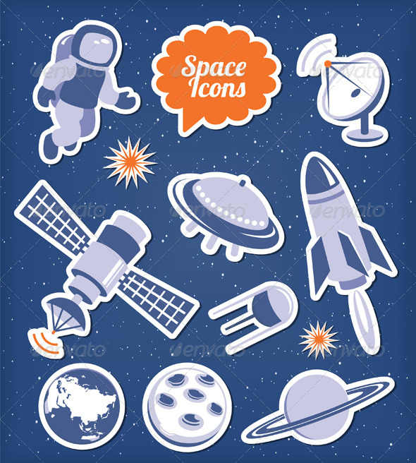 Space Icons Set - Industries Business