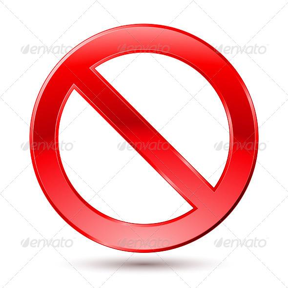 Empty Ban Sign - Characters Vectors