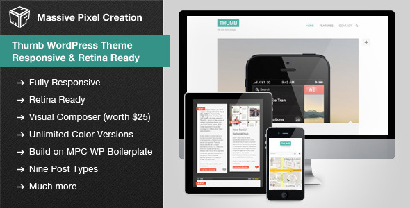 Thumb WordPress Theme - Responsive & Retina Ready - Personal Blog / Magazine