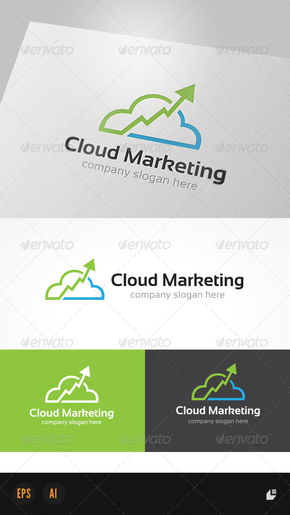 Cloud Marketing Logo - Nature Logo Templates