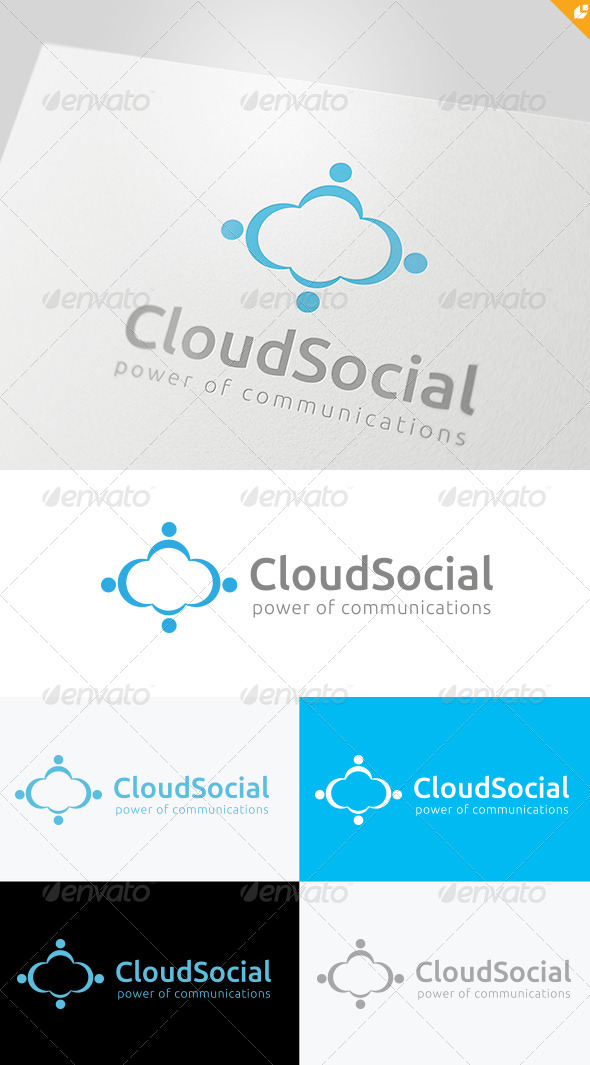 Cloud Social Logo - Nature Logo Templates