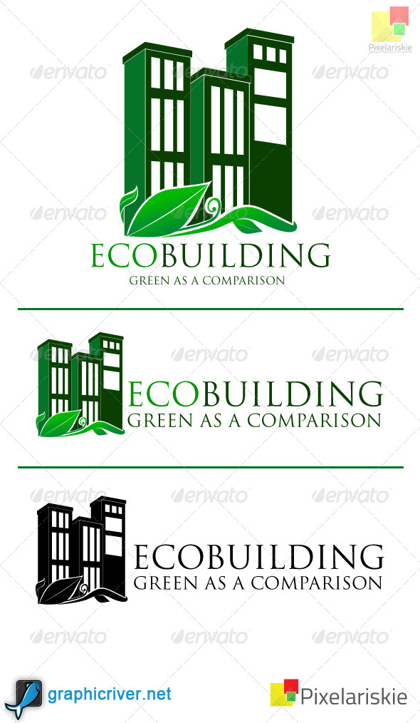 Eco Building logo - Buildings Logo Templates