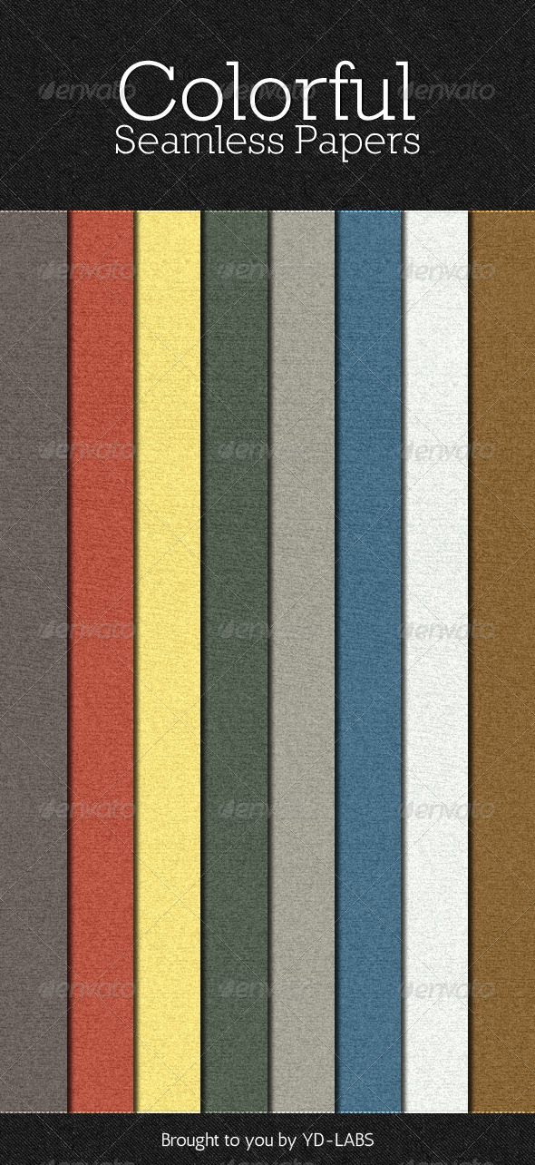 Colorful Seamless Papers - Patterns Backgrounds
