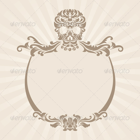 Skull Ornament Frame - Decorative Symbols Decorative