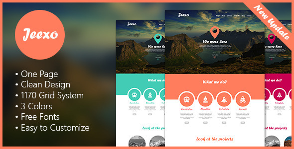 Jeexo – Single Page PSD Template