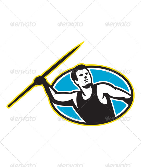 Javelin Throw Track and Field Athlete - People Characters