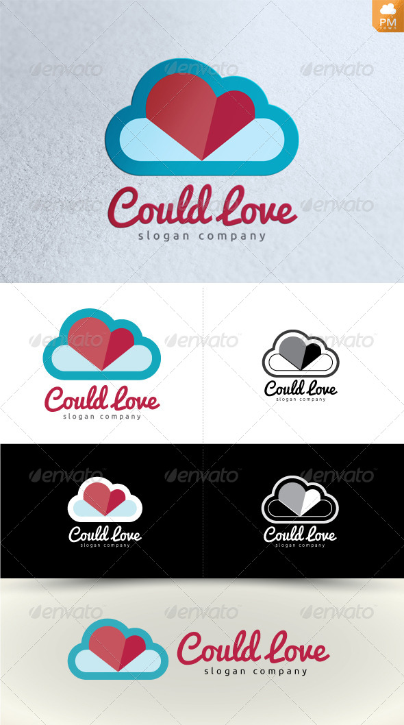 Cloud Love - Objects Logo Templates