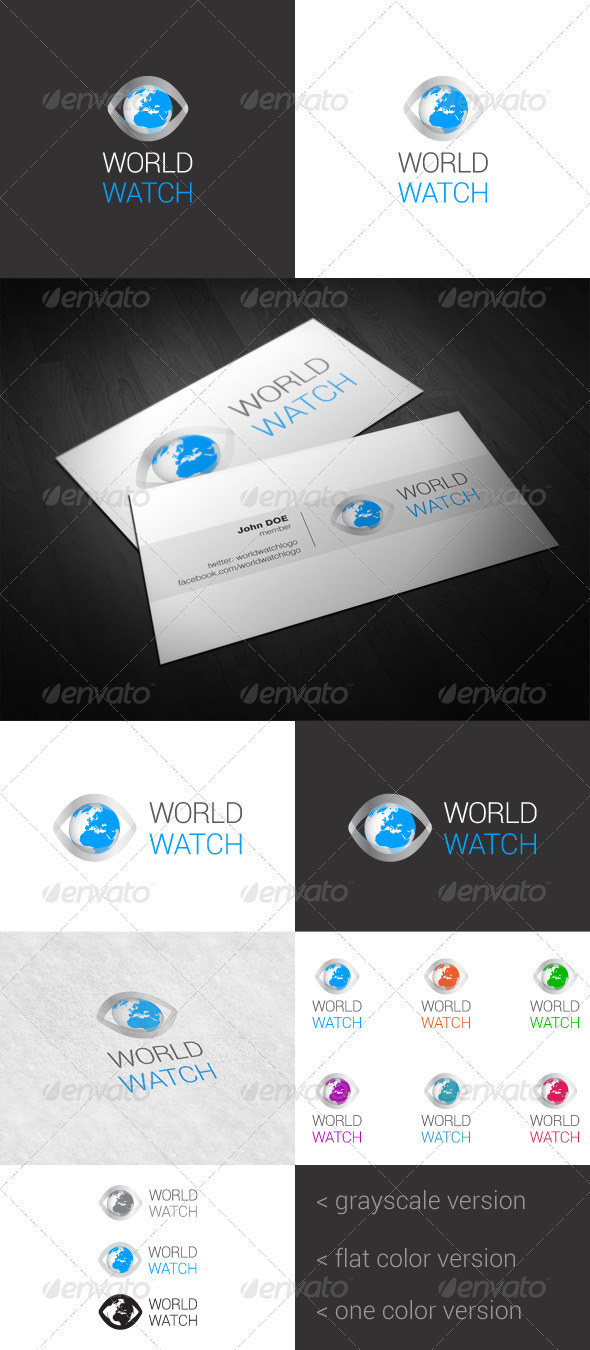 World Watch Logo - Vector Abstract