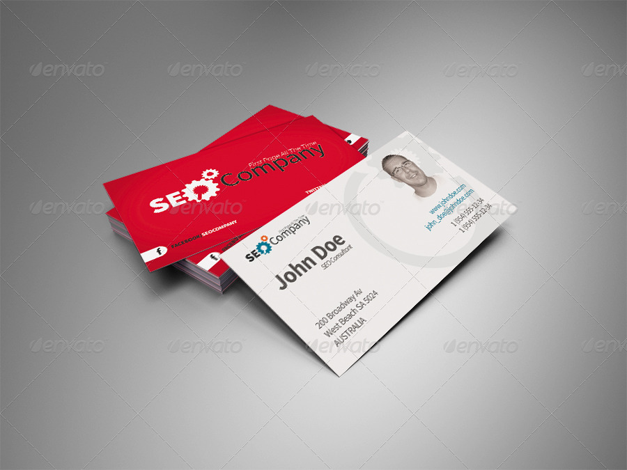 Simple And Modern Style Double Sided Business Card by peterhupuczi