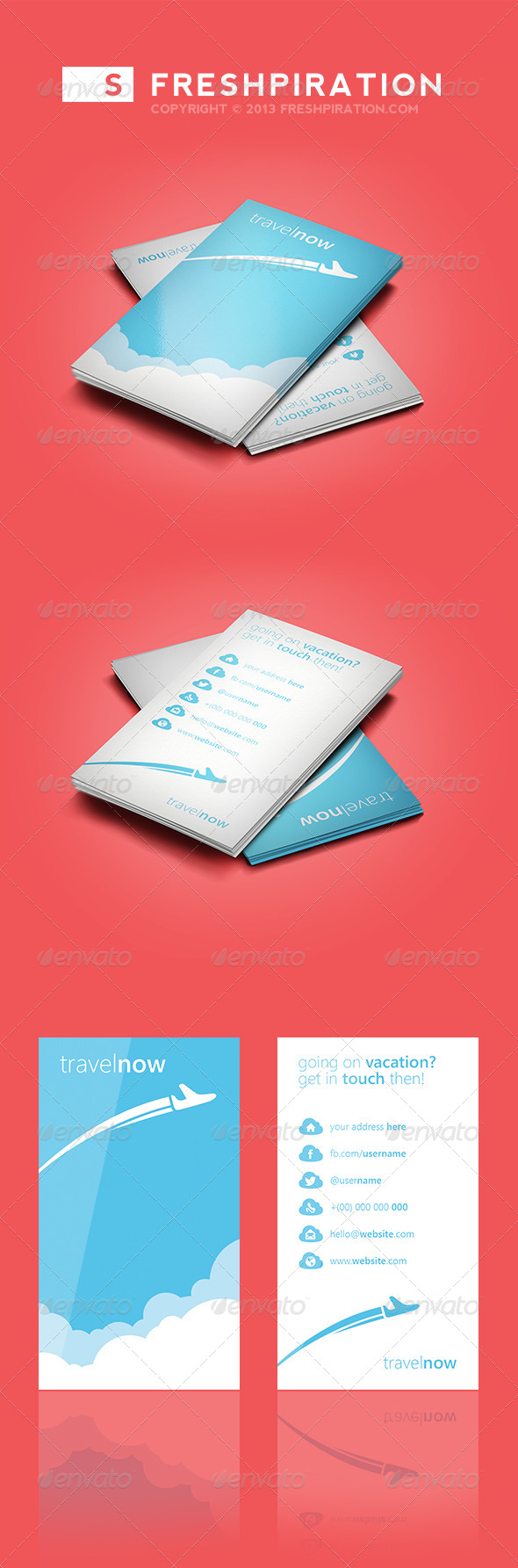 Travel Agency Business Card - Creative Business Cards