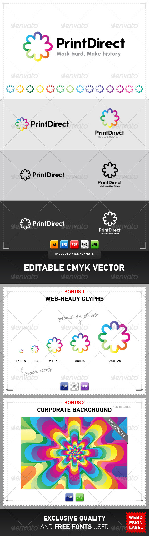 Print Direct Logo - Abstract Logo Templates
