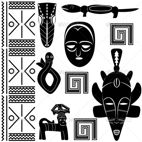 Ancient African Pattern - Travel Conceptual