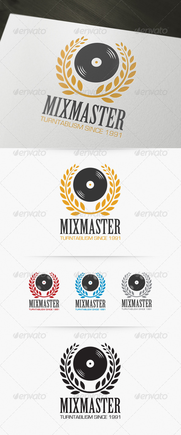 Mixmaster Logo - Objects Logo Templates