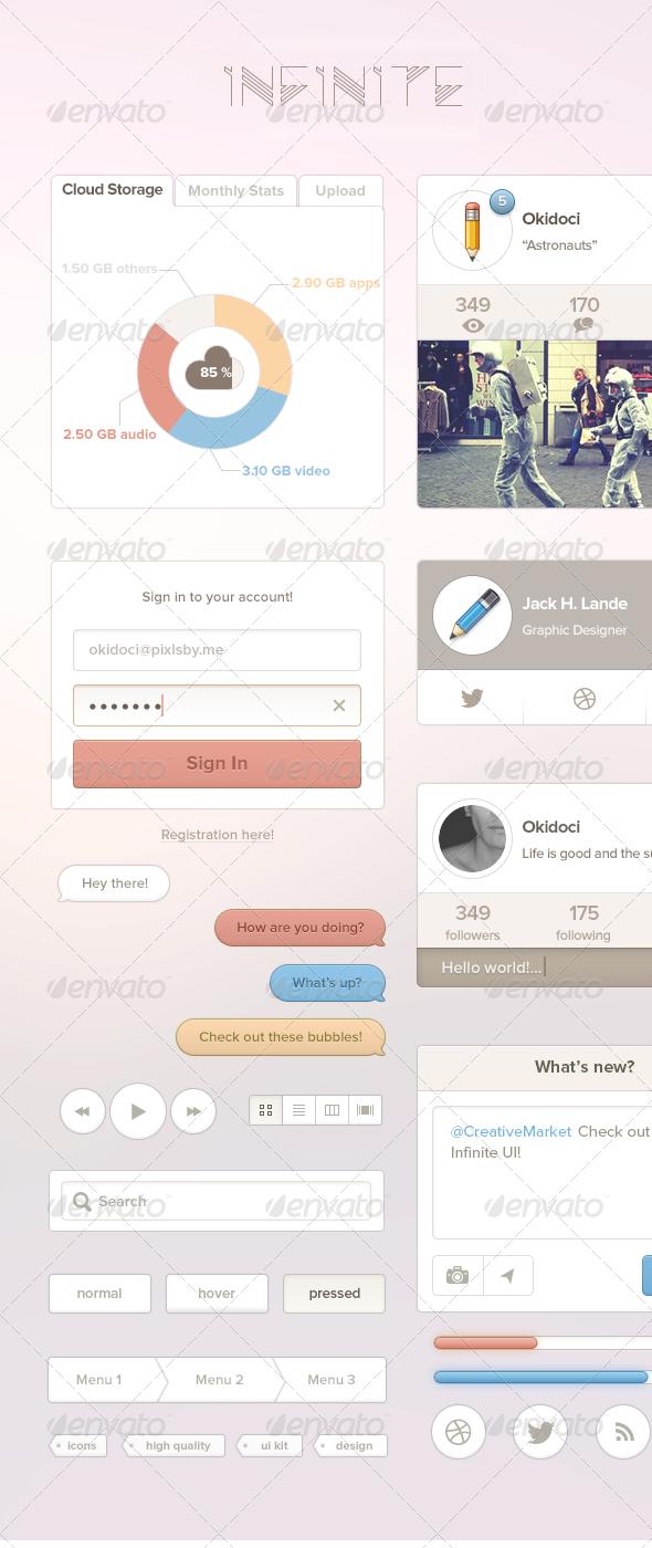 Infinite UI Kit - User Interfaces Web Elements