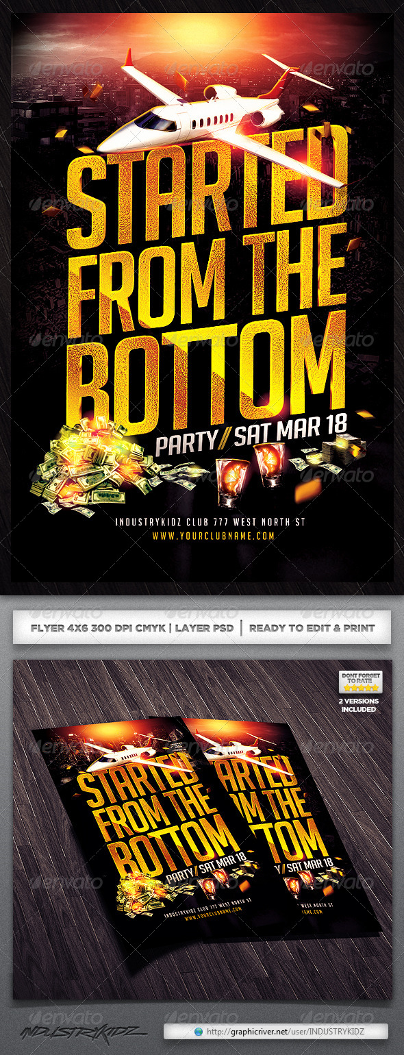 Started From The Bottom Flyer - Clubs & Parties Events