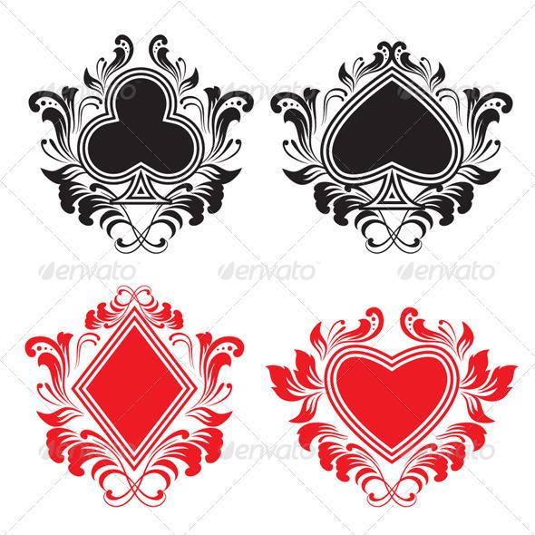 Playing Card Ornament Set - Decorative Symbols Decorative