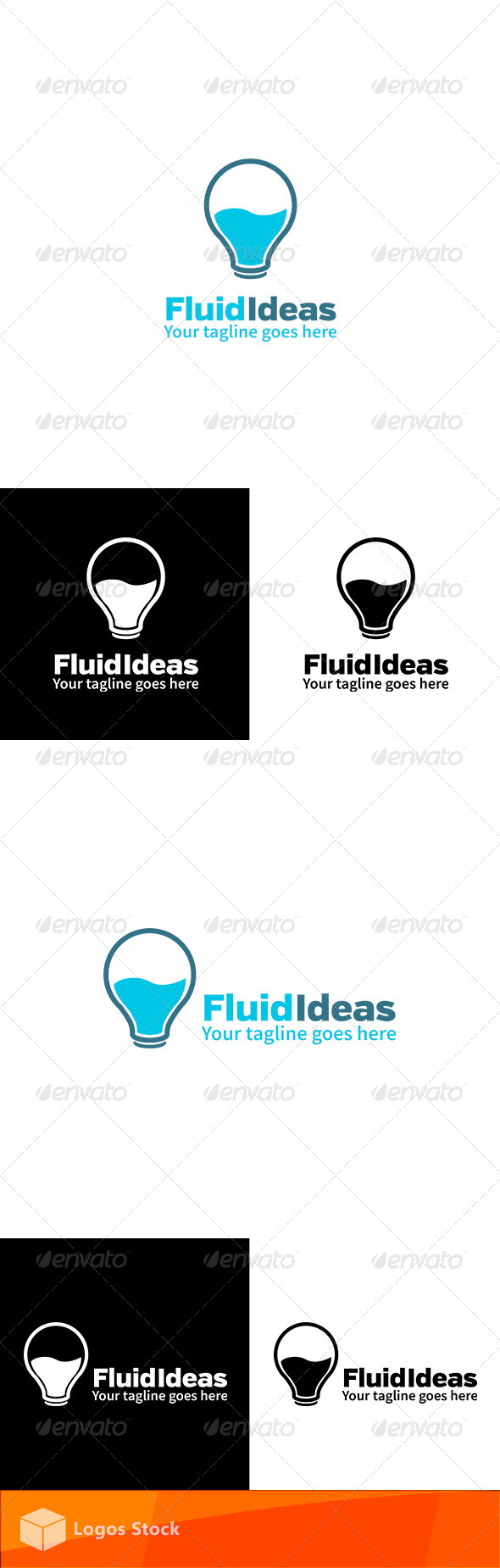 Creative Logo - Fluid Ideas - Vector Abstract