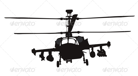 Helicopter Silhouette - Travel Conceptual