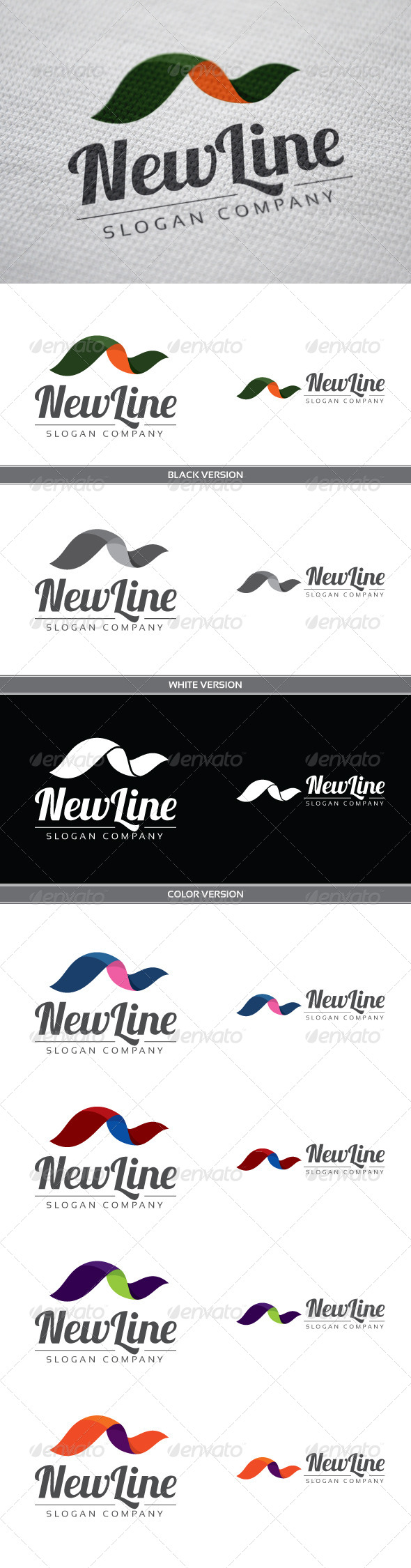 NewLine - Letters Logo Templates
