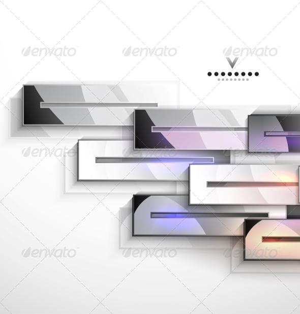 3d Vector Geometrical Design: Metal Stripes - Backgrounds Decorative