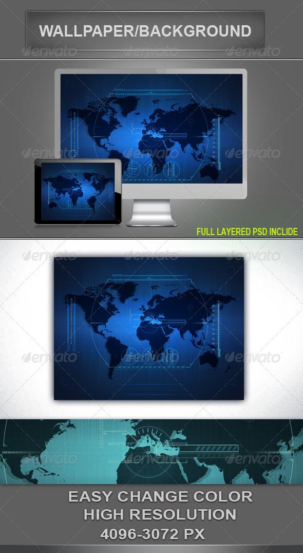 Hi- Tech Background - Tech / Futuristic Backgrounds