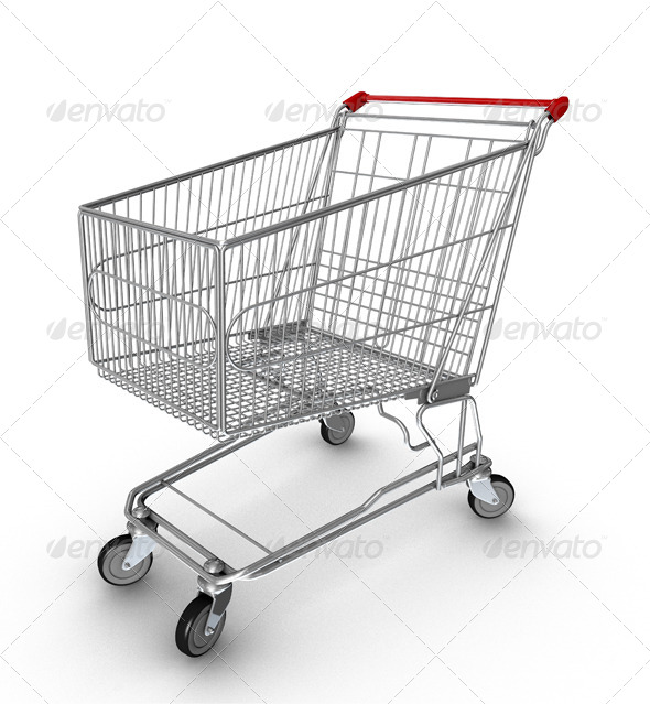 Shopping Cart - Miscellaneous Isolated Objects