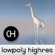 Realistic Lowpoly Giraffe with Highres Maps - 3DOcean Item for Sale