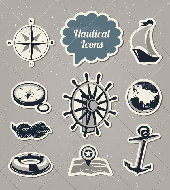 Nautical Icons Set - Travel Conceptual