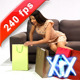 Woman With Shopping Bags 240fps - VideoHive Item for Sale