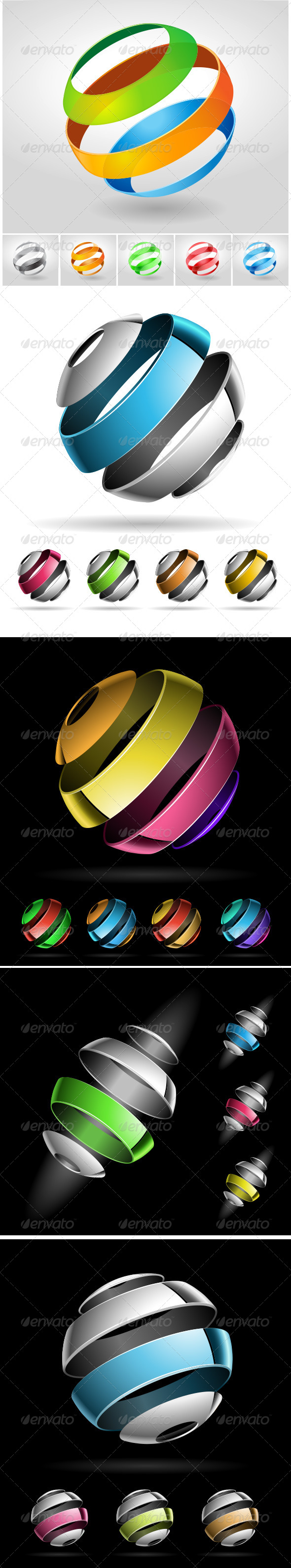 Abstract Sphere Collection - Abstract Conceptual