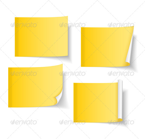 Sticky Notes - Objects Vectors