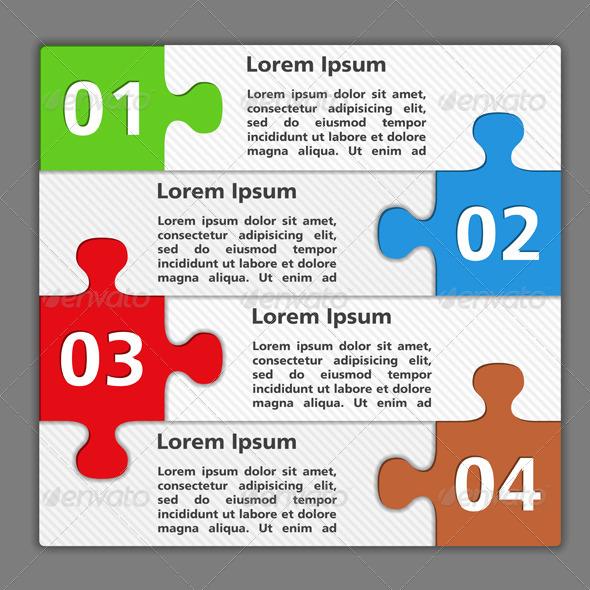 Design Template with Puzzle Pieces - Miscellaneous Vectors