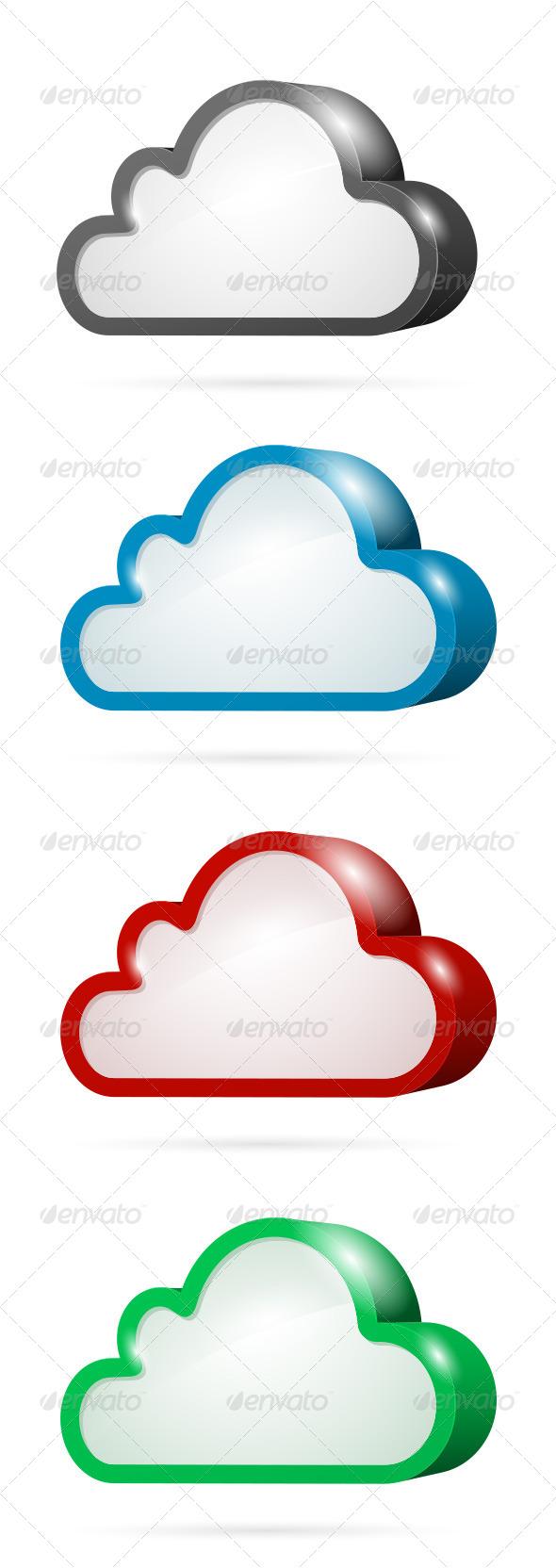 Cloud Computing Symbol Set - Web Technology