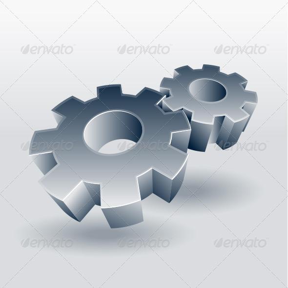 Gear Wheel Symbol - Man-made Objects Objects