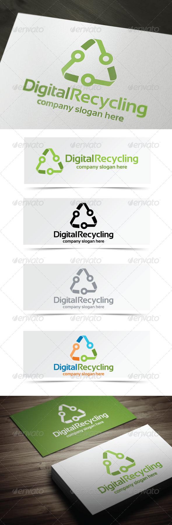 Digital Recycling - Symbols Logo Templates