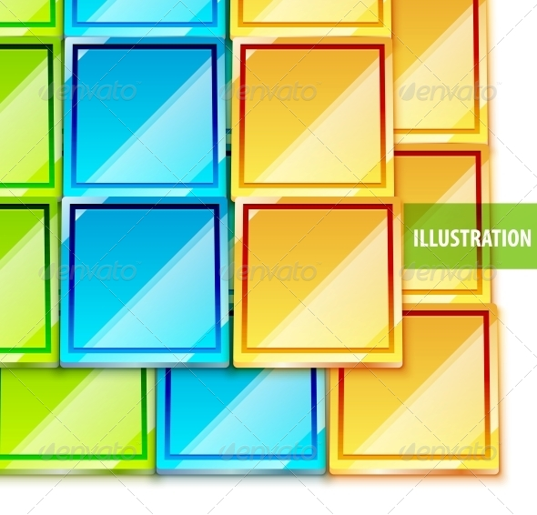 Color Glossy Vector Tiles Background - Backgrounds Decorative