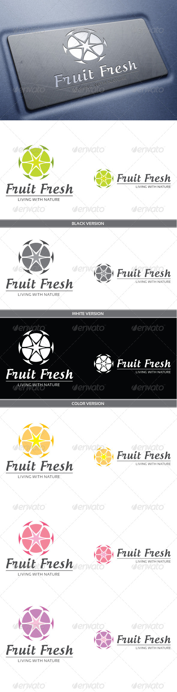Fruit Fresh - Nature Logo Templates