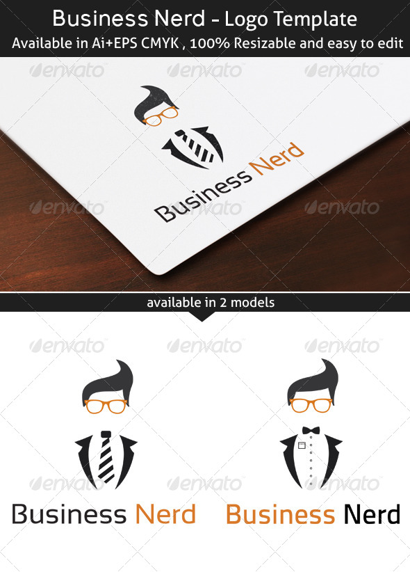 Business Nerd - Humans Logo Templates