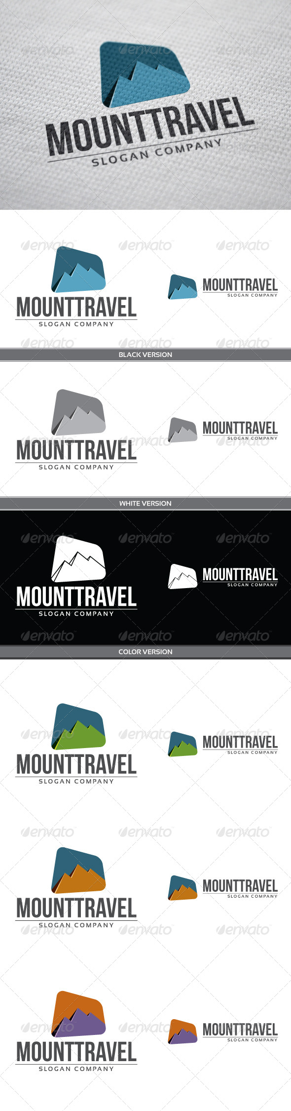 MountTravel - Nature Logo Templates
