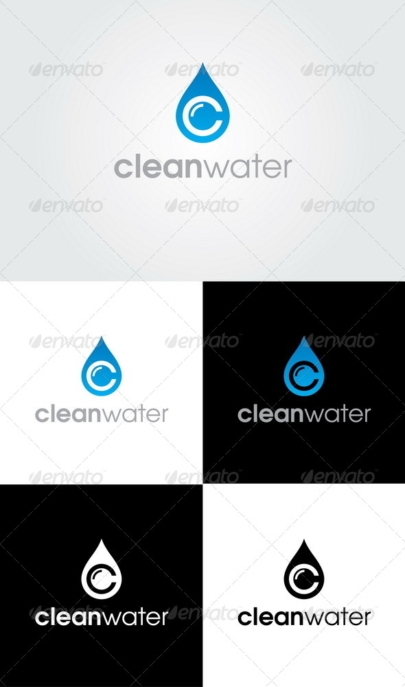 Clean Water Logo By Glaxa Graphicriver