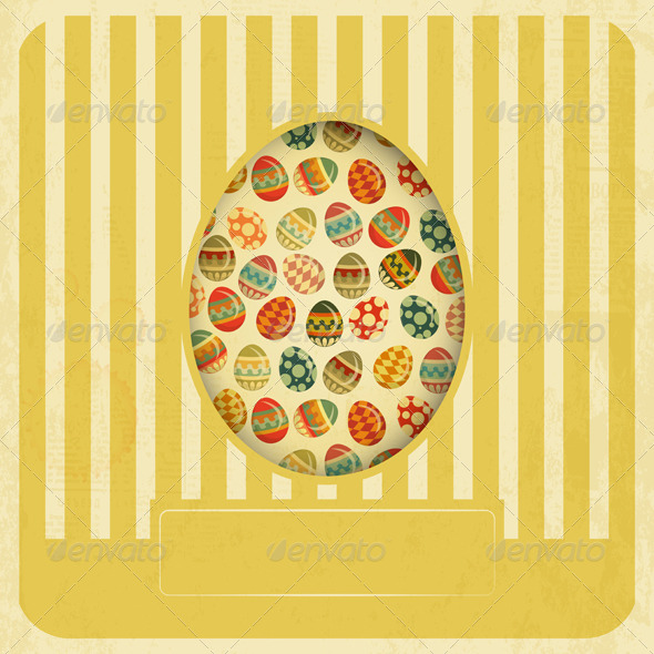 Vintage Yellow Easter Card - Seasons/Holidays Conceptual