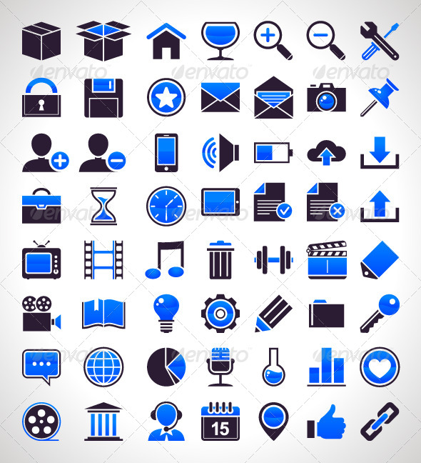 Set of 56 Simple Universal Icons - Vectors