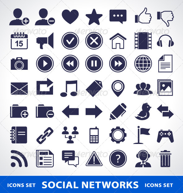 Social Network Icons - Vectors