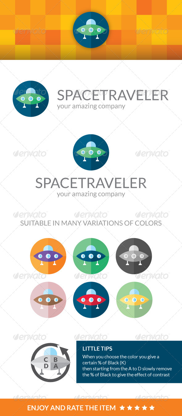 Space Traveler - Symbols Logo Templates