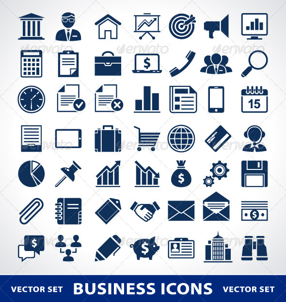 Simple Business Icons - Vectors