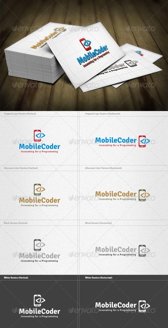 Mobile Coder Logo - Symbols Logo Templates