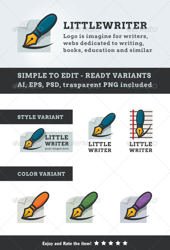 Little Writer - Objects Logo Templates
