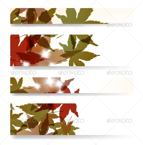 Autumn Banner Set - Flowers & Plants Nature