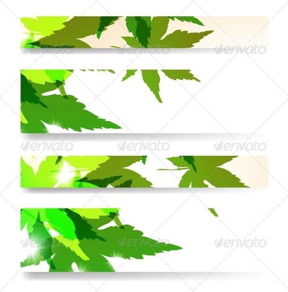 Autumn Banner Set - Flowers & Plants Nature